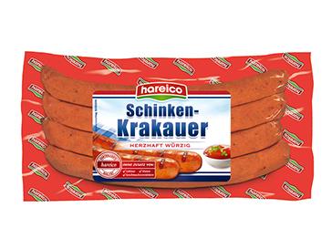 シンケンクラカワは粗挽きにした豚肉を羊腸詰めにしたソーセージです。
